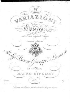 Шесть вариаций для гитары, Op.60: Шесть вариаций для гитары by Мауро Джулиани