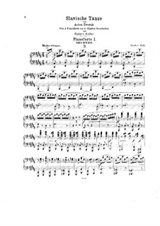 Тетрадь I: Для двух фортепиано в восемь рук by Антонин Дворжак