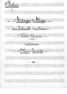 Адажио и Аллегро, Op.70: Для виолончели с оркестром – партия первых скрипок by Роберт Шуман