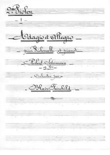 Адажио и Аллегро, Op.70: Для виолончели с оркестром – партия вторых скрипок by Роберт Шуман