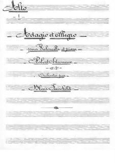 Адажио и Аллегро, Op.70: Для виолончели с оркестром – партия альтов by Роберт Шуман