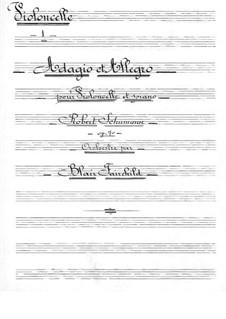 Адажио и Аллегро, Op.70: Для виолончели с оркестром – партия виолончелей by Роберт Шуман