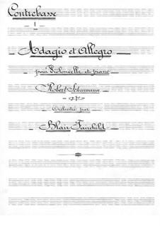 Адажио и Аллегро, Op.70: Для виолончели с оркестром – партия контрабасов by Роберт Шуман