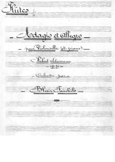 Адажио и Аллегро, Op.70: Для виолончели с оркестром – партия флейт by Роберт Шуман