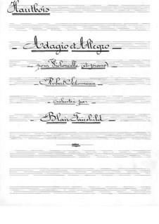 Адажио и Аллегро, Op.70: Для виолончели с оркестром – партия гобоев by Роберт Шуман