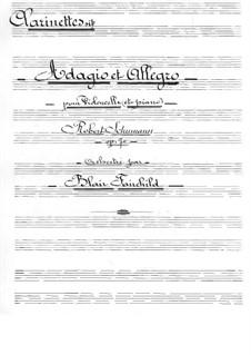 Адажио и Аллегро, Op.70: Для виолончели с оркестром – партия кларнетoв by Роберт Шуман