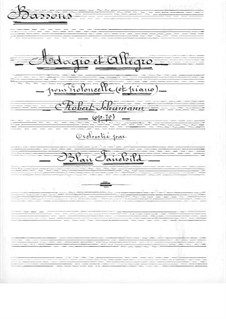 Адажио и Аллегро, Op.70: Для виолончели с оркестром – партия фаготов by Роберт Шуман