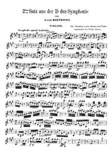 Симфония No.2, Op.36: Часть II by Людвиг ван Бетховен