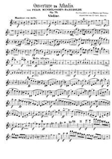 Музыка к пьесе 'Аталия', Op.74: Увертюра – партия скрипки by Феликс Мендельсон-Бартольди