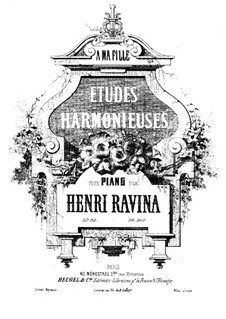 Etudes Harmonieuses, Op. 50: Для фортепиано by Жан-Анри Равина