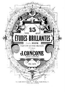 Пятнадцать блестящих этюдов: Пятнадцать блестящих этюдов by Джузеппе Конконе