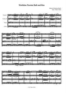 Nr.6 Buß und Reu: Für Streichquartett by Иоганн Себастьян Бах