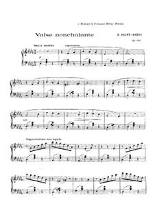 Valse nonchalante, Op.110: Для фортепиано by Камиль Сен-Санс
