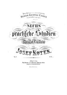 Шесть практических этюдов для скрипки, Op.8: Шесть практических этюдов для скрипки by Иосиф Котек