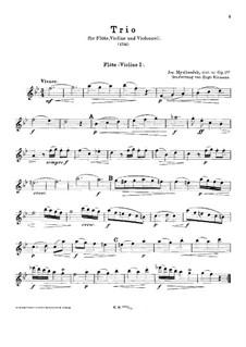 Трио для флейты, скрипки и виолончели и фортепиано (ad libitum), Op.1 No.4: Партия флейты или первой скрипки by Йозеф Мысливечек