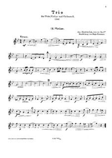 Трио для флейты, скрипки и виолончели и фортепиано (ad libitum), Op.1 No.4: Партия скрипки by Йозеф Мысливечек