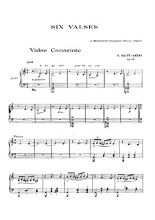 Valse canariote, Op.88: Для фортепиано by Камиль Сен-Санс