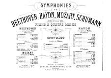 Симфонии (Сборник): No.1-2, для фортепиано в четыре руки by Роберт Шуман