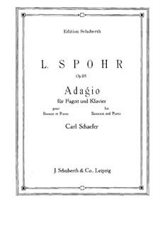 Соната для скрипки и арфы No.4 фа мажор, Op.115: Версия для фагота и фортепиано – сольная партия by Луи Шпор