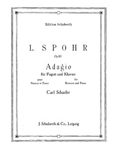 Соната для скрипки и арфы No.4 фа мажор, Op.115: Версия для фагота и фортепиано by Луи Шпор