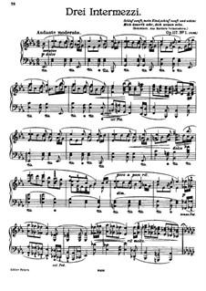 Три интермеццо, Op.117: Сборник by Иоганнес Брамс