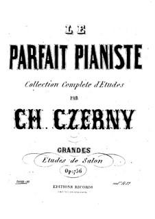 Большие салонные этюды, Op.756: No.1-3 by Карл Черни