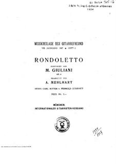 Рондолетто для гитары, Op.4: Рондолетто для гитары by Мауро Джулиани