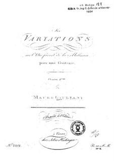 Шесть вариаций на темы из оперы 'La Molinara' Паизиелло: Шесть вариаций на темы из оперы 'La Molinara' Паизиелло by Мауро Джулиани