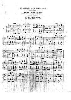 Дочь фараона: Французкая кадриль, для фортепиано by Цезарь Пуни