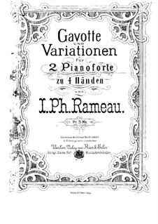 Гавот и вариации: Для двух фортепиано в 4 руки by Жан-Филипп Рамо