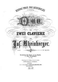 Дуэт для двух фортепиано в четыре руки, Op.15: Дуэт для двух фортепиано в четыре руки by Йозеф Габриэль Райнбергер