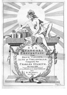 Шесть квартетов для двух скрипок, альта и виолончели: Партия альта by Карл Стамиц