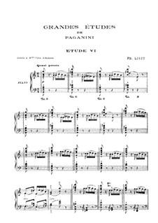 Большие этюды по Паганини, S.141: No.6 ля минор by Франц Лист