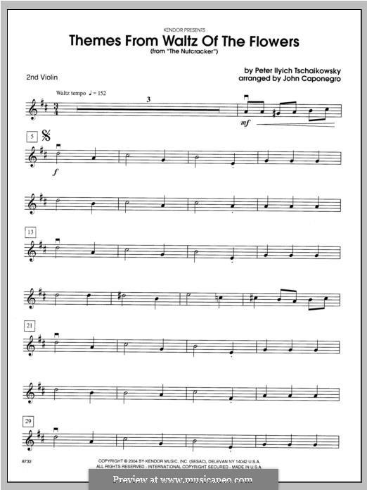 No.13 Вальс цветов: Themes – violin 2 part by Петр Чайковский