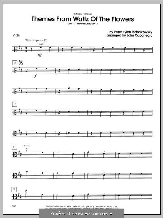 No.13 Вальс цветов: Themes – viola part by Петр Чайковский