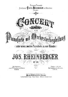 Концерт для фортепиано с оркестром, Op.94: Партия II фортепиано by Йозеф Габриэль Райнбергер
