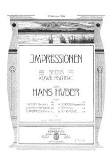 Шесть пьес: No.2 Вальс-экспромт by Ханс Хубер