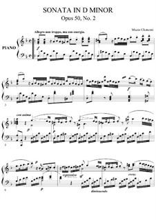 Три сонаты, Op.50: Соната No.2 by Муцио Клементи