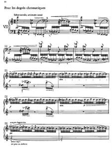 Этюды, L.136: No.7 Хроматические последования by Клод Дебюсси