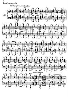 Этюды, L.136: No.12 Аккорды by Клод Дебюсси