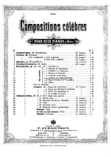 Костюмированный бал, Op.103: No.11 Казак и Малороссиянка, для двух фортепиано в восемь рук – Партия первого фортепиано by Антон Рубинштейн