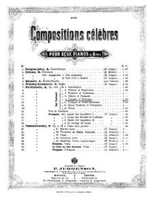 Костюмированный бал, Op.103: No.9 Поляк и Полька, для двух фортепиано в восемь рук – Партия первого фортепиано by Антон Рубинштейн