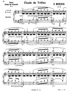 Grandes études pour piano en soixante caprices caractéristiques, Op.63: No.48 Étude de trilles by Амадей Меро