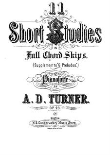 Одиннадцать коротких аккордовых этюдов, Op.23: Одиннадцать коротких аккордовых этюдов by Альфред Дадли Тёрнер