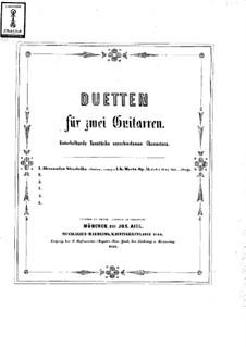 Дуэт для двух гитар, Op.51: Дуэт для двух гитар by Иоганн Каспар Мерц