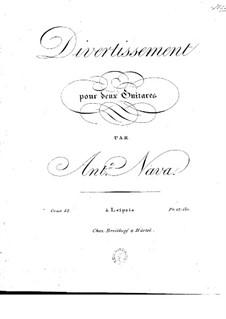 Divertissement for Two Guitars, Op.52: Divertissement for Two Guitars by Антонио Мария Нава