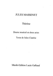Тереза: Аранжировка для голосов и фортепиано by Жюль Массне