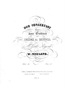 Concert Duo for Two Guitars: Concert Duo for Two Guitars by Wilhelm Neuland