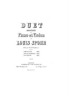 Концертная соната для арфы (или фортепиано) и скрипки (или виолончели), Op.113: Партия виолончели by Луи Шпор