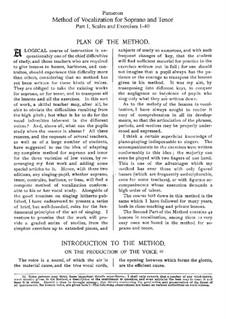 Метод вокализации для сопрано и тенора: Часть I by Огюст-Матье Пансерон